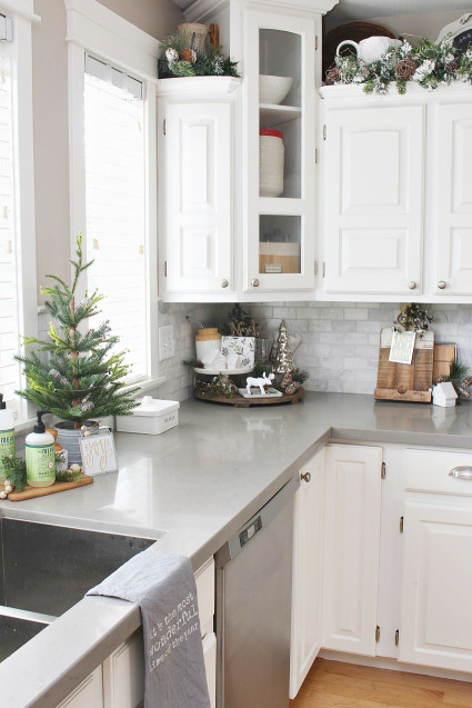 Kitchen Design Ideas  Christmas Kitchen Decorating Ideas Clean and Scentsible