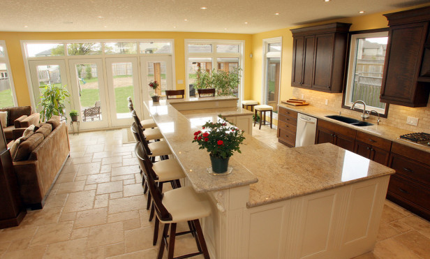 Kitchen Designs With Islands  How high should the counter be