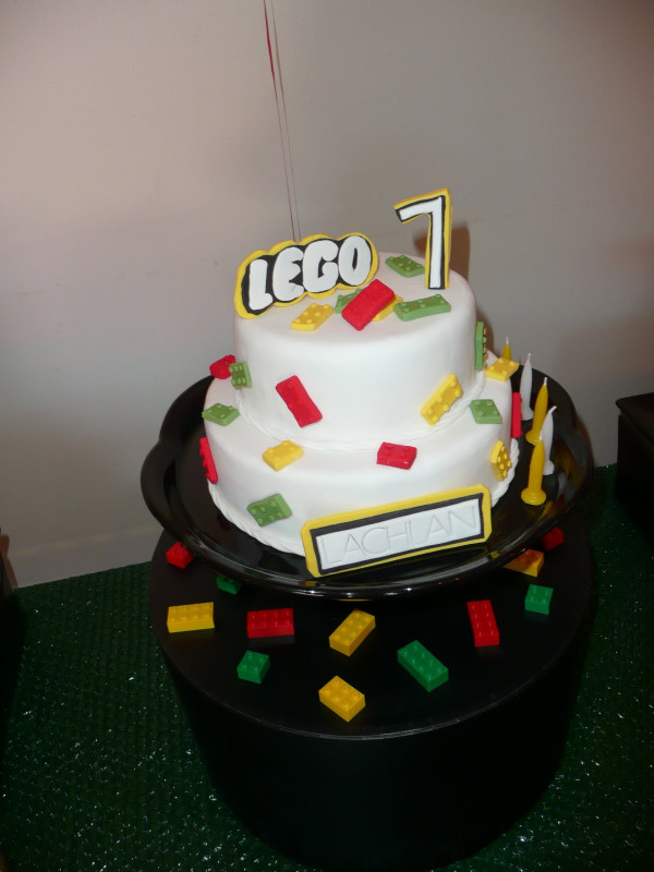 Lego Birthday Cake  Taylor Made Baking Lachlan s 7th Birthday Party Part 2
