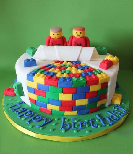 Lego Birthday Cake  Lego Cake CakeCentral