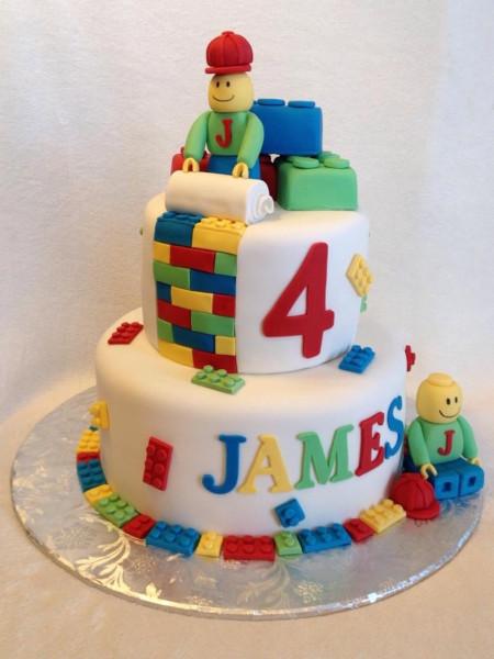 Lego Birthday Cake  Lego Men Birthday Cake CakeCentral