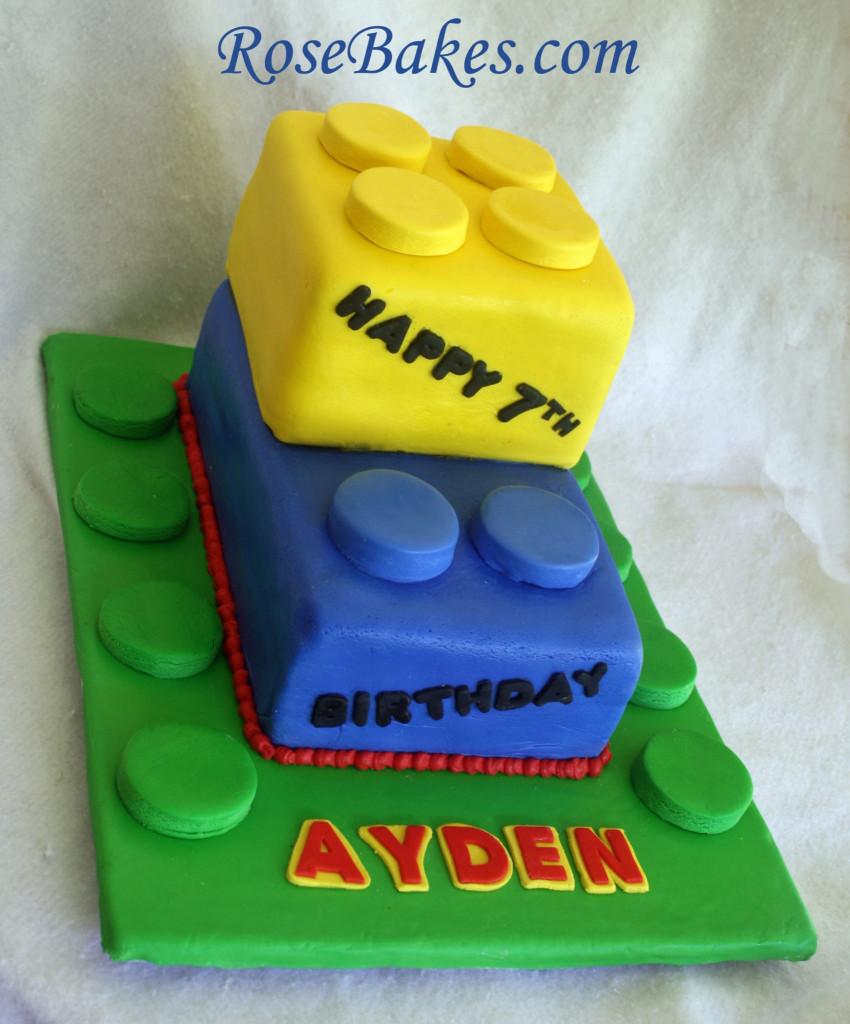 Lego Birthday Cake  Legos Birthday Cake
