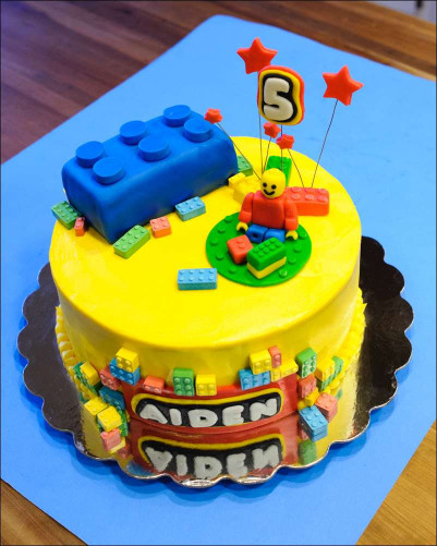 Lego Birthday Cake  Lego Cake