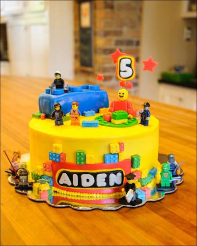 Lego Birthday Cake  Lego Fondant Brick Cake and Cookie Tutorial