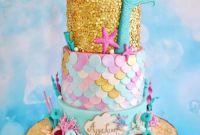 Mermaid Birthday Cake Inspirational Mermaid Sequins Cake Cakecentral