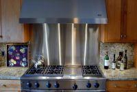 Metal Kitchen Backsplash Awesome Stainless Steel Backsplashes Brooks Custom