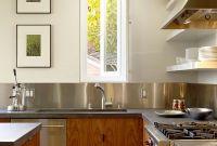 Metal Kitchen Backsplash Luxury Kitchen Design Idea Install A Stainless Steel Backsplash