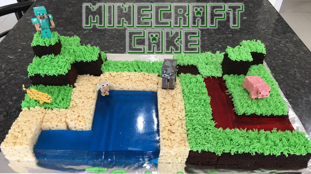 Minecraft Birthday Cake  Minecraft Birthday Cake