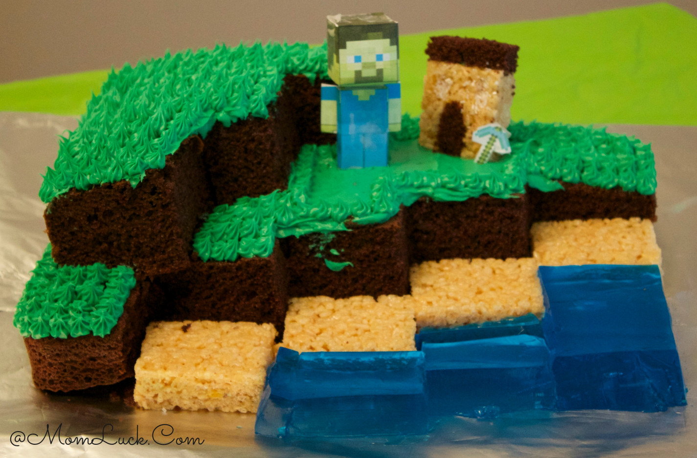 Minecraft Birthday Cake  Minecraft Birthday Party Ideas For Kids