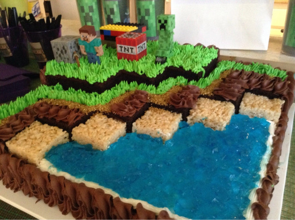 Minecraft Birthday Cake  I went to a little girl s Minecraft birthday party Here