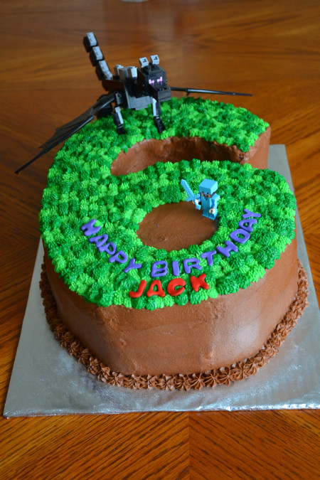 "Minecraft Birthday Cake  Minecraft ""6"" Birthday Cake CakeCentral"