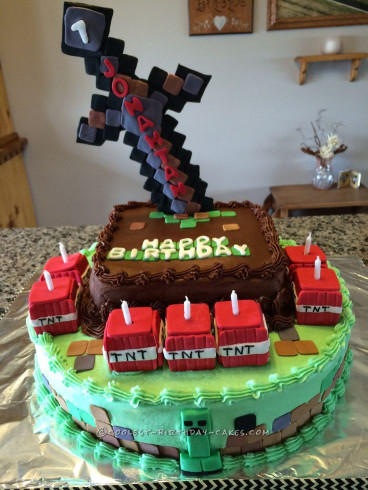 Minecraft Birthday Cake  1000 ideas about Homemade Minecraft Cakes on Pinterest