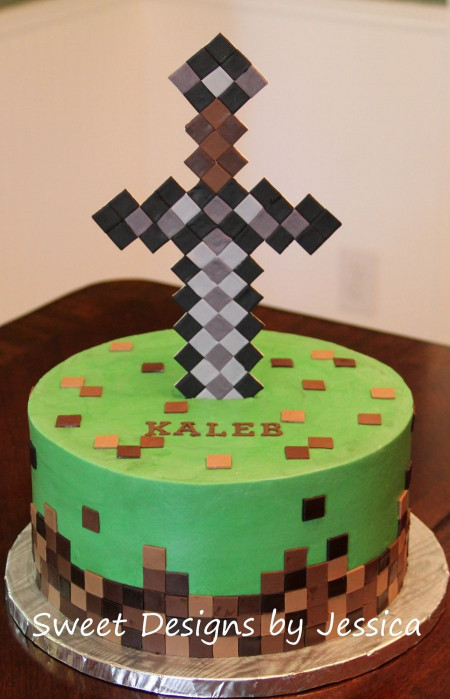 Minecraft Birthday Cake  Minecraft themed cake