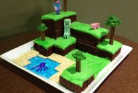 Minecraft Birthday Cake New Minecraft World Cake with