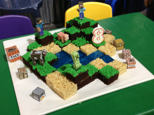 Minecraft Birthday Cake  The Bubbly Hostess Minecraft Birthday Party