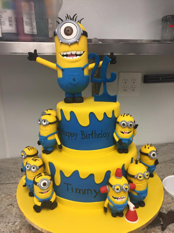 Minion Birthday Cake  Minions Birthday Cake • Palermo s Custom Cakes & Bakery