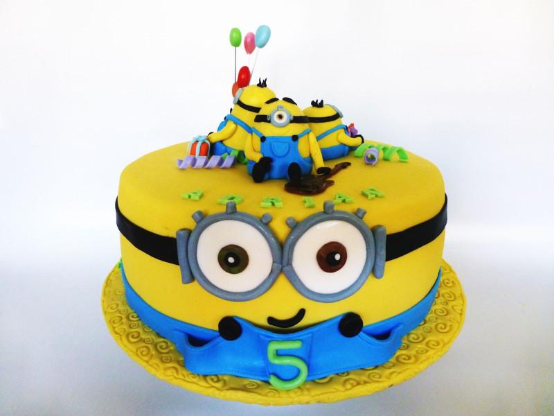 Minion Birthday Cake  CakeSophia Minions cake