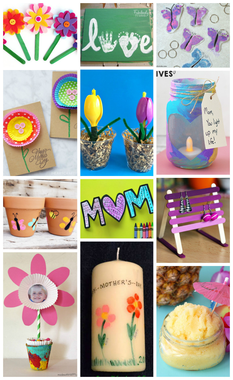 Mothers Day Craft Ideas For Kids  Easy Mother s Day Crafts for Kids Happiness is Homemade