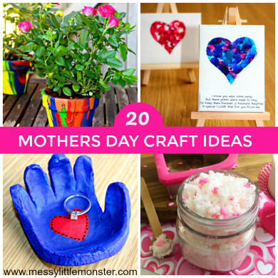 Mothers Day Craft Ideas For Kids  Mothers Day Craft Ideas Messy Little Monster