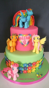 My Little Pony Birthday Cake  My Little Pony cake love the flowers on the bottom tier