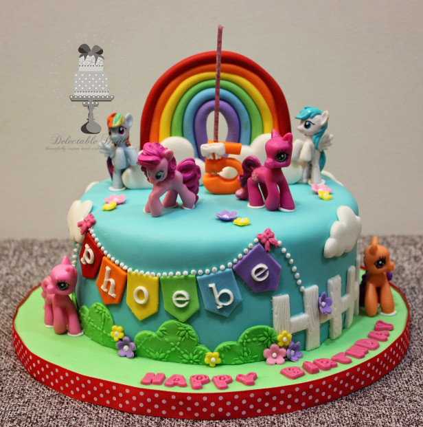 My Little Pony Birthday Cake  Delectable Delites My Little Pony cake for Phoebe s 5th
