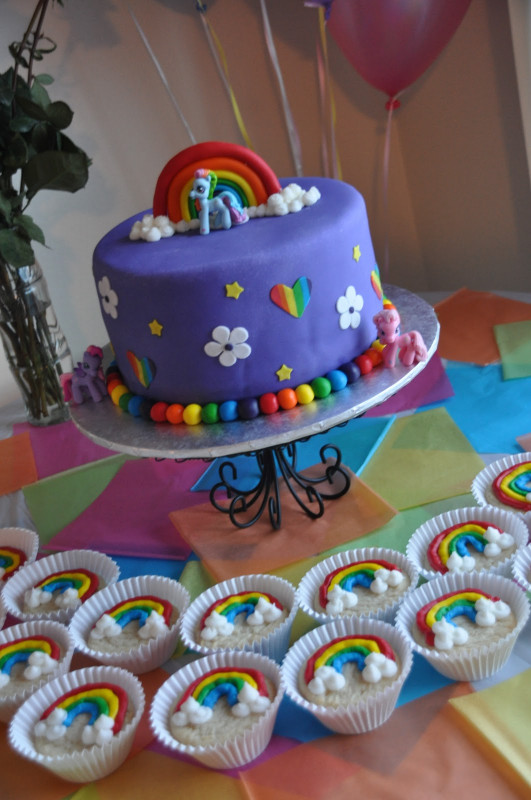 My Little Pony Birthday Cake  Make a Cake Series My Little Pony Cake and Rainbow