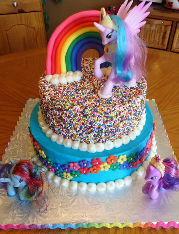 My Little Pony Birthday Cake  17 Best ideas about Little Pony Cake on Pinterest
