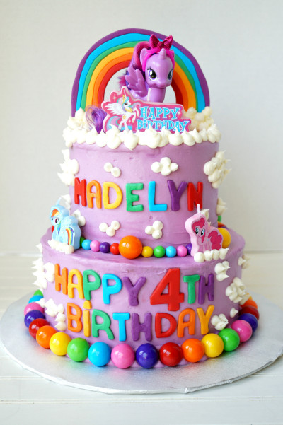 My Little Pony Birthday Cake  My Little Pony tiered birthday cake