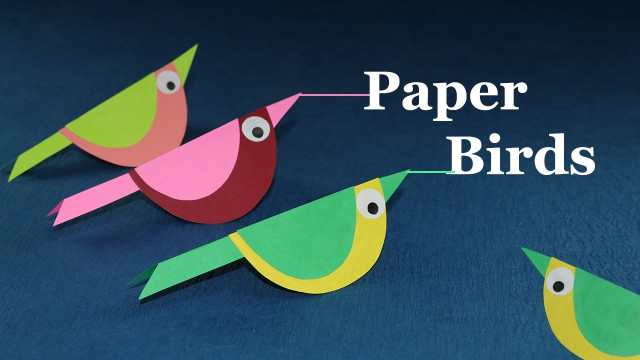 Paper Craft Ideas For Kids Under 5  Paper Crafts for Kids How to Make Paper Bird Very Easy