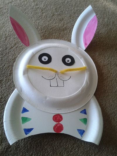 Paper Craft Ideas For Kids Under 5  Paper Plate Bunny My Kid Craft