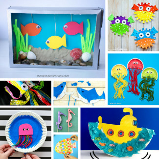 Paper Craft Ideas For Kids Under 5  Under the Sea Crafts for Kids
