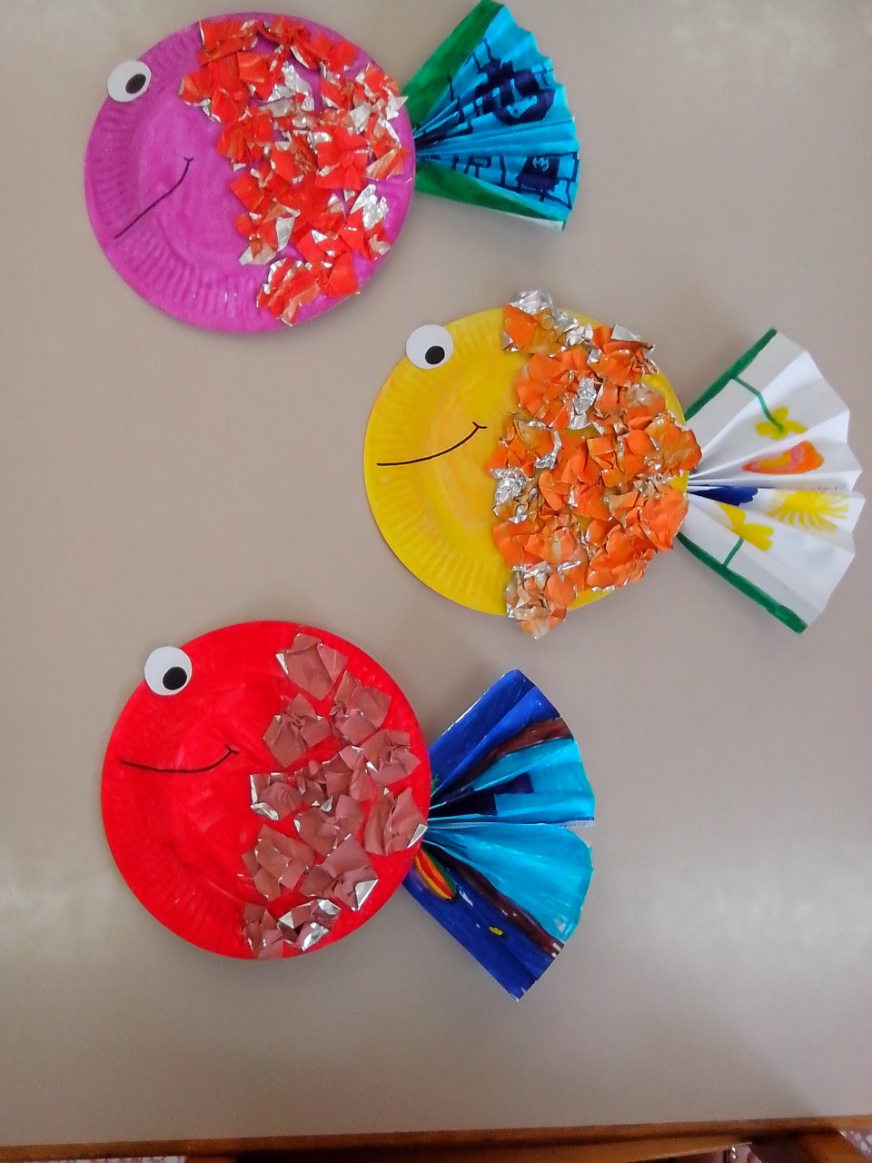 Paper Craft Ideas For Kids Under 5  Paper Plate Tropical Fish