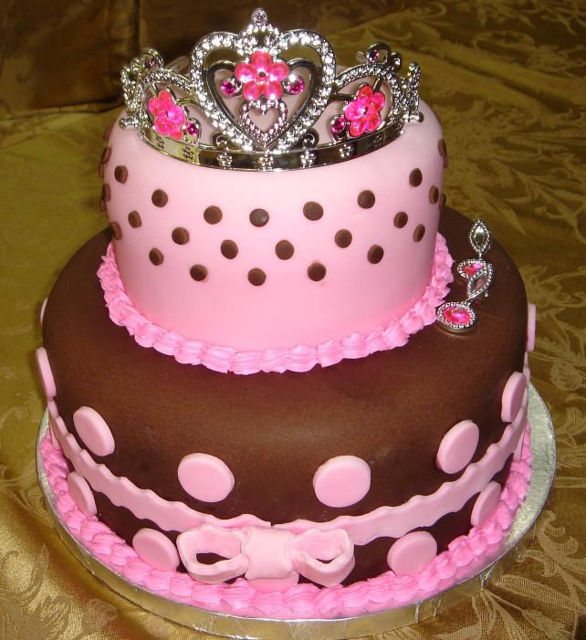 Pink Birthday Cake  cake birthday kids fondant buttercream princess castle