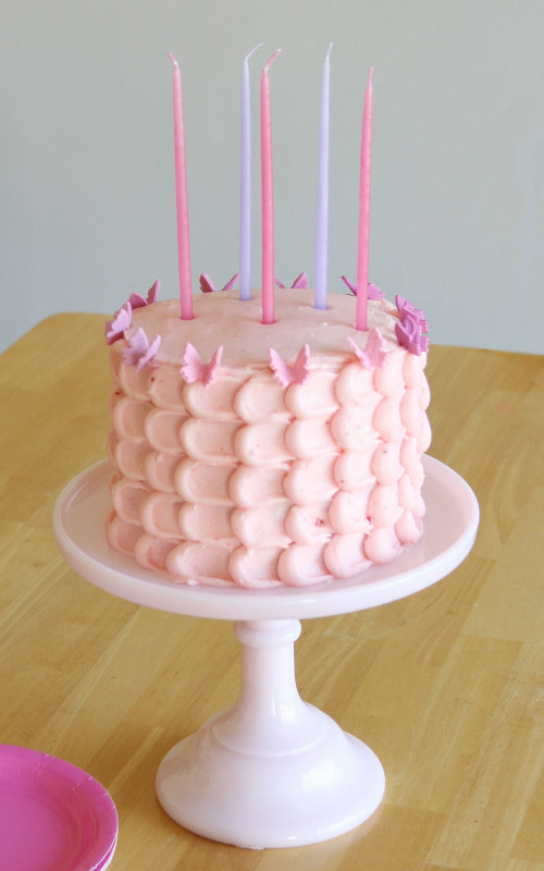 Pink Birthday Cake  Butterfly Birthday Cake – Glorious Treats