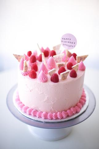 Pink Birthday Cake New Happy Birthday Sis Raspberry Pink Birthday Cake Tutorial