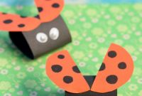 Project for Kids Elegant Simple Ladybug Paper Craft Easy Peasy and Fun