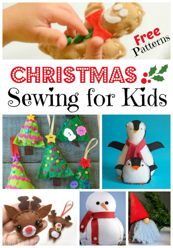 Projects For Kids  FREE Kids Sewing Projects for Christmas Red Ted Art s Blog