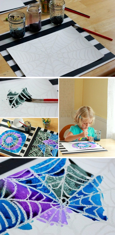 Projects For Kids  Spider Web Art Project A Simple and Beautiful