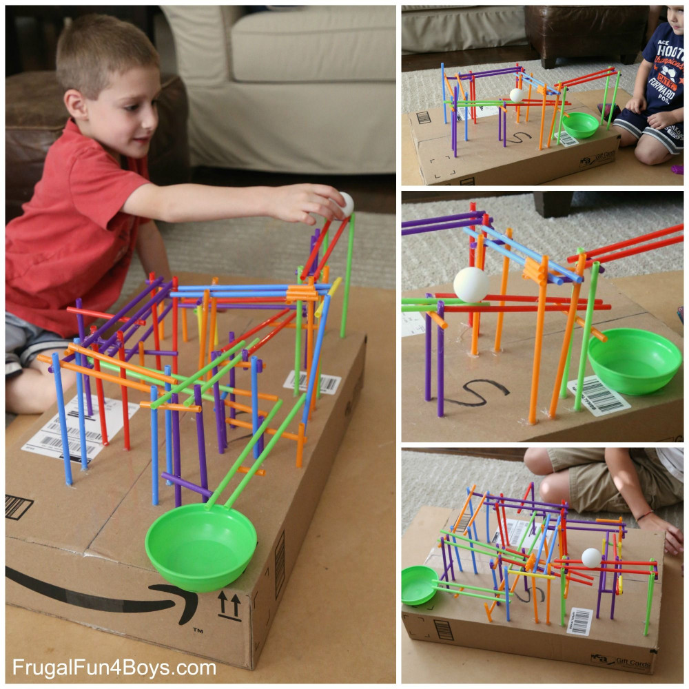 Projects For Kids  Engineering Project for Kids Build a Straw Roller Coaster