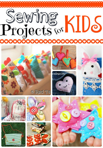 Projects For Kids  Sewing Projects for Kids Red Ted Art s Blog