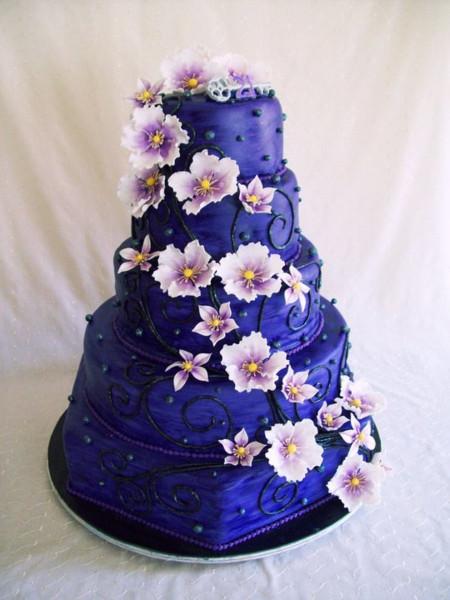 Purple Birthday Cake  Big Purple Birthday Cake CakeCentral