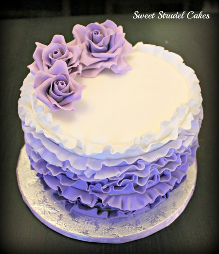 Purple Birthday Cake  Purple Ombre Birthday Cake CakeCentral