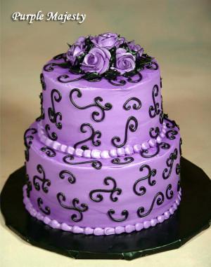 Purple Birthday Cake  Omaha wedding cakes The Cake Gallery Wedding Cakes