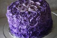 Purple Birthday Cake Elegant Purple Ombre buttercream Roses Birthday Cake Rose Bakes