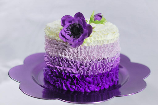 Purple Birthday Cake  You have to see Purple Buttercream Cake by Redhead1946