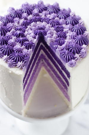 Purple Birthday Cake  Purple Ombre Layer Cake