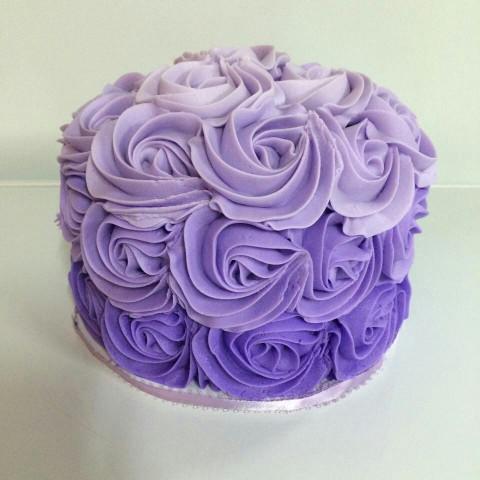 Purple Birthday Cake  Ombre lavender purple smash cake