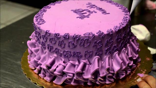 Purple Birthday Cake  Purple Dress Theme Birthday Cake