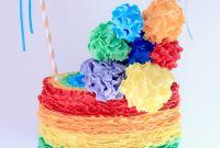 Rainbow Birthday Cake Inspirational Blissfully Sweet A Rainbow Rufflicious Birthday Cake