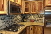 Rustic Kitchen Backsplashes Inspirational Rustic Red Cedar Kitchen with Cultured Stone Backsplash
